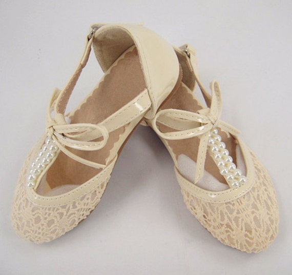 Wedding Shoes Pearl Lace Girl Shoes Lace Wedding Shoes Flower Girls