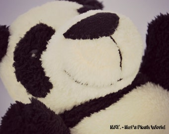 ANDI is a HANDSEWN plush panda :)
