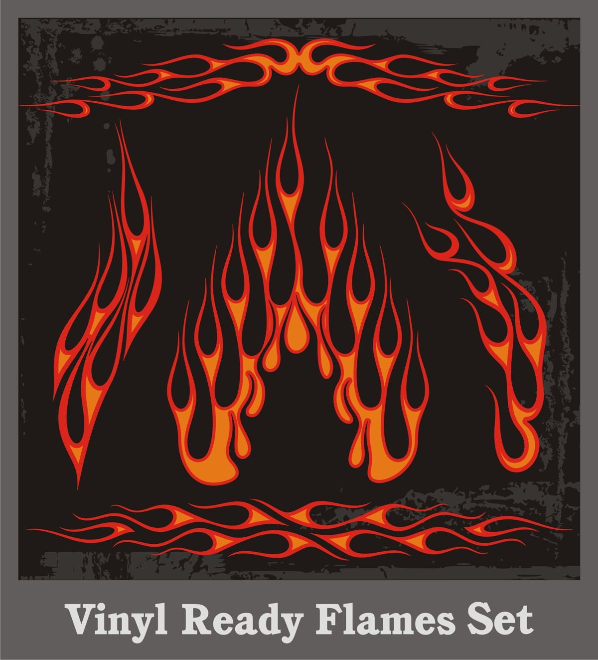 Motorbike Wall Stickers A Set Of Vinyl Ready Flames Vector Clipart Vehicle
