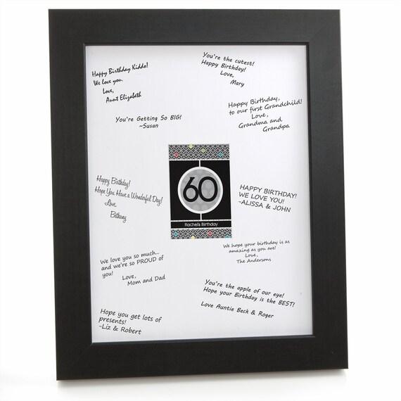 50th Birthday Signature Photo Frame: 60th Birthday Party Signature Mat For A Birthday Party Guest