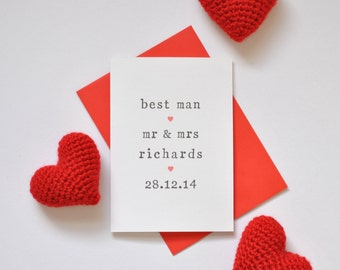 Personalised Best Man Card