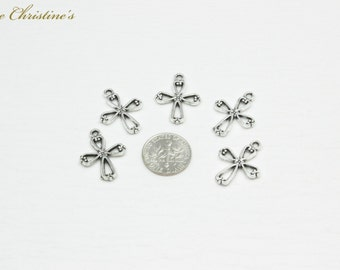 Lydia - 5 DIY Charms Party Pack - Alloy Stylized Cross Charms - TZZ010297