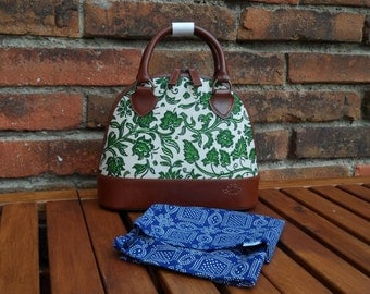 Dilians HANDPRINTED leather handbag JITKA2 F070301