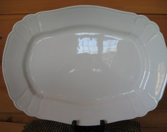 Large Johnson Bros White Ironstone Transfer Platter