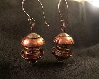 Handcrafted spring earrings