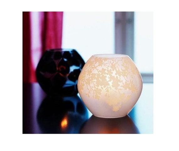 Knubbig Table Lamp 4 Quot 11cm Cherry Blossoms Frosted Glass White From Pixiheart121 On Etsy Studio