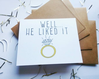 """Funny engagement announcement card-""""Put a ring on it"""" card"""
