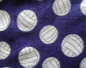 Fabric by the 1/2 Yard - Volley Balls Fleece Fabric