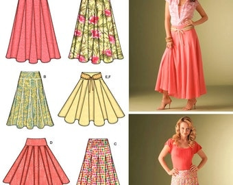 Misses Skirts Simplicity Pattern 4188