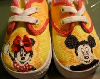 Custom Disney Painted Shoes