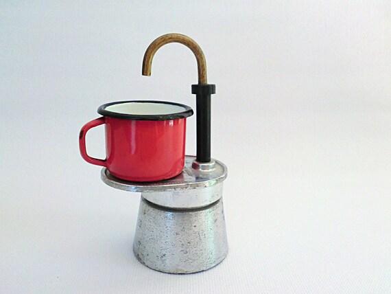 Italian Coffee Maker One Cup : Italian Stove top coffee pot Mini Express 1 cup OMG design