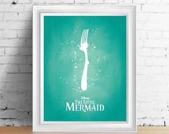 Disney Little Mermaid downloadable digital art print