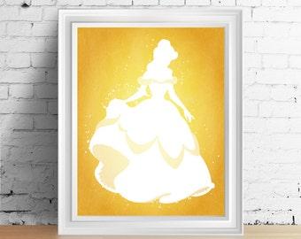 Disney Belle downloadable digital art print