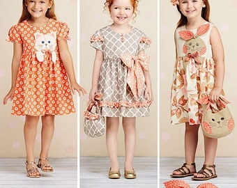Simplicity Pattern 1208 Child's Dresses, Purses and Headband