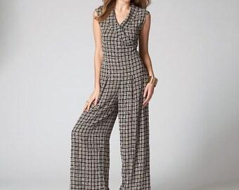 McCall's Pattern M7133 Misses'/Miss Petite Top, Pants and Jumpsuit