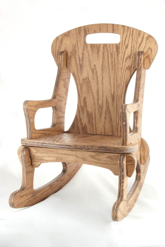 Child sized contemporary handmade rocking chair by for Child chair design