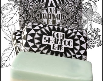 Combo Peppermint Organic Shampoo and Conditioner Bar