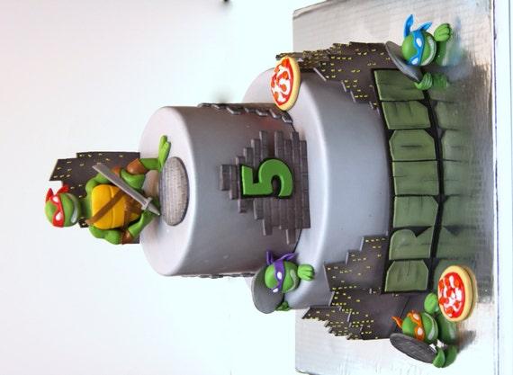 Items similar to Teenage Mutant Ninja Turtles Fondant Cake ...