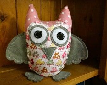 Pink owl door stop