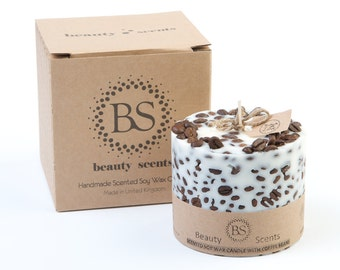 Beauty Scents Handmade Scented Candle with Coffee Beans