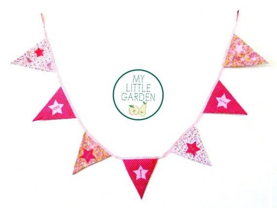 Guirlande fanion - décoration chambre enfant à personaliser