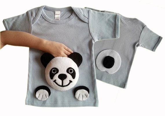 panda shirt clothes panda clothing animal by mypalpockets