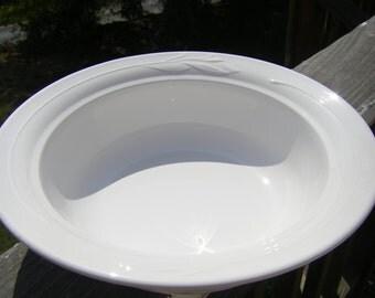 "CorningWare 'Casual Elegance - White Flora' Bowl / Baking Dish with Lid, 11-3/4"" Diameter, L-22, L-22-C"
