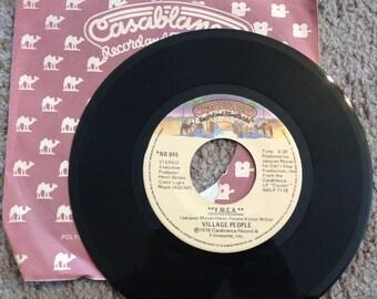 Vintage 45 Record The Village People Y.M.C.A. & The Women on Casablanca Records