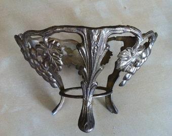 Vintage Brass Fruit Decor Bowl Frame