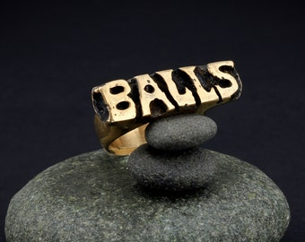 Brass Balls Ring–Bronze