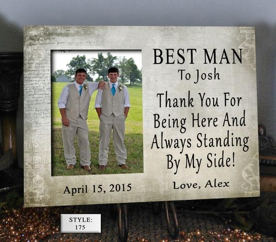 BEST/MAN, Wedding Gift, Wedding Present, Thank You Gift, Photo Frame ...