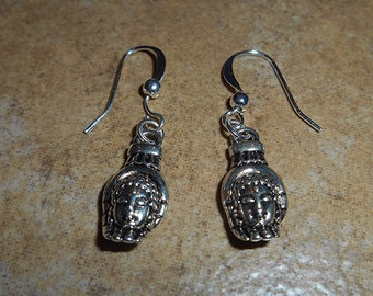 Buddha /Hand dual sided earrings