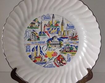 Ohio souvenir plate