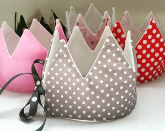 Children's crown - kids crown - reversible crown - birthday crown- fabric crown - pretend play - toys for kids - children's toys