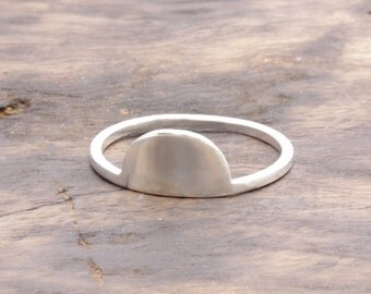 925 stering silver half moon ring (R_00045)