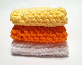 Dish Cloth Trio - Lemon, Orange, and White
