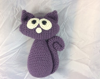Crochet Kitty Cat tutorial with photos - Cat Pattern - Amigurumi kitten - whimiscal cat - huggable toy - crochet toy pattern - pdf pattern