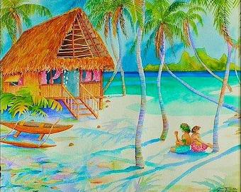 Bora Bora Lagoon - On Canvas