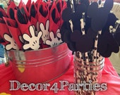 Mickey Mouse Faces and Mickey Mouse Clubhouse handy helper hands for birthday party or baby shower (24 peices)