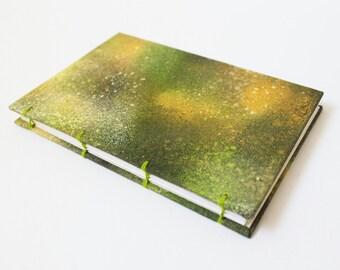 Spray paint Galaxy Journal - Blank Journal / Sketchbook - Travel Journal - Blank Paper