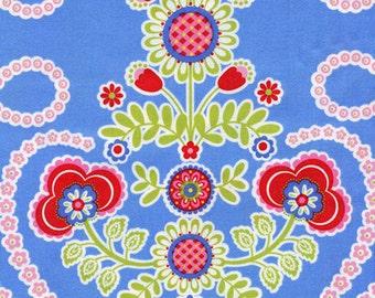 Ooh La La Couer de Fleurs Michael Miller Cotton Fabric DC5196 Blue, By the Yard