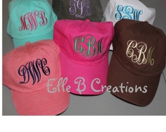 SIX Personalized Ball Caps- Bridesmaid or Girlfriend Gifts!