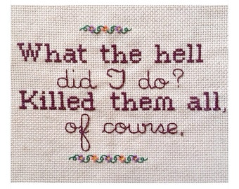 Robert Durst cross stitch confession!