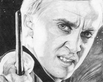 8 x 10 Graphite Drawing Draco Malfoy from Harry Potter