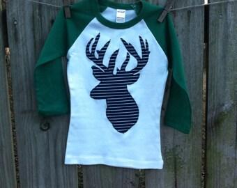 Deer Applique Shirt Buck Applique Shirt