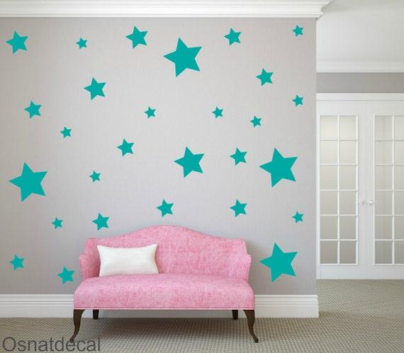 FREE SHIPPING Wall Decal Turquoise Stars, Each Kit 150  Stars. Wall Sticker. Homedecor.Nursery Wall Art.Housewares