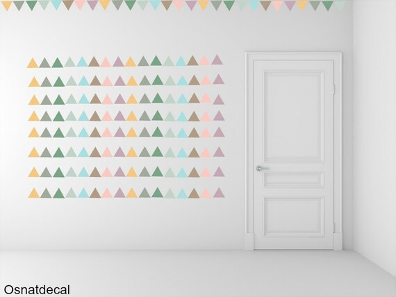 FREE SHIPPING Wall Decal Triangle Pastel Colors , Each Kit 238 Wall Sticker. Homedecor.Nursery Wall Art.Geometric Wall Decal
