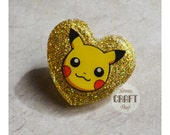Pikachu Resin Brooch