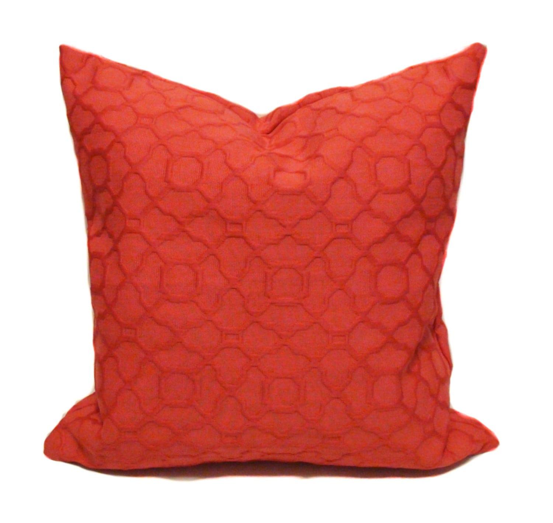 Orange throw pillows Pillow cover Sofa pillow by PillowCorner