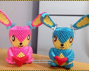 3D Origami : Bunny